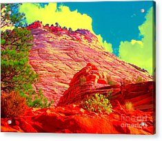 Acrylic Print featuring the photograph Zion Rising by Ann Johndro-Collins