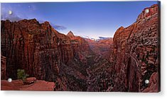 Zion's Twilight Acrylic Print by Chad Dutson