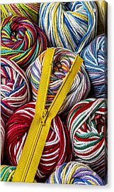 Zipper And Yarn Acrylic Print