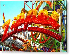 Acrylic Print featuring the photograph Zipper  by Marianne Dow