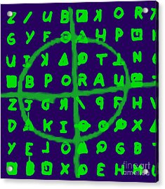 Zodiac Killer Code And Sign 20130213p128 Acrylic Print by Wingsdomain Art and Photography