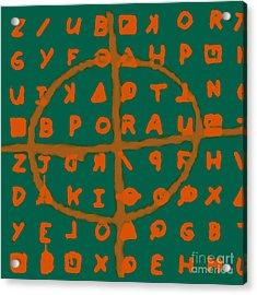 Zodiac Killer Code And Sign 20130213p28 Acrylic Print