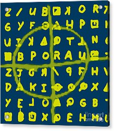 Zodiac Killer Code And Sign 20130213p68 Acrylic Print by Wingsdomain Art and Photography