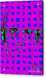 Zodiac Killer With Code And Sign 20130213m180 Acrylic Print by Wingsdomain Art and Photography