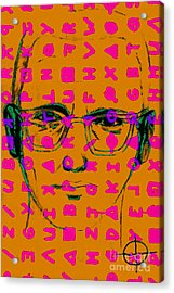 Zodiac Killer With Code And Sign 20130213m80 Acrylic Print by Wingsdomain Art and Photography