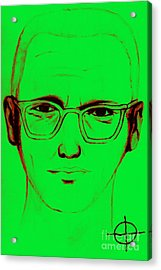 Zodiac Killer With Sign 20130213 Acrylic Print by Wingsdomain Art and Photography