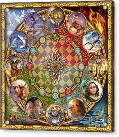 Zodiac Mandala Acrylic Print