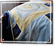 Zodiac Patchwork Quilt Acrylic Print by Barbara Griffin