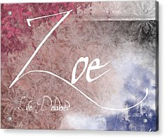 Zoe - Life Delivered Acrylic Print by Christopher Gaston