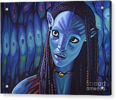 Zoe Saldana As Neytiri In Avatar Acrylic Print