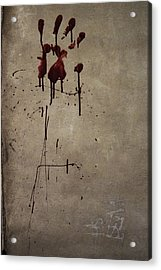 Zombie Attack - Bloodprint Acrylic Print by Nicklas Gustafsson