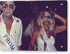 Zombie Prom King And Queen Acrylic Print by Laurie Search