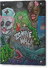 Zombie Walk Acrylic Print by Laura Barbosa