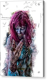 Zombie Want You Acrylic Print by John Haldane