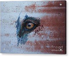 Zombie Wolf Eye Acrylic Print