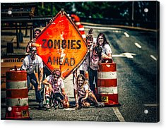 Acrylic Print featuring the photograph Zombies Ahead by Joshua Minso