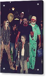 Zombies Everywhere Acrylic Print by Laurie Search