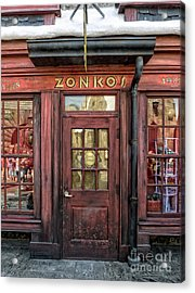 Zonkos Joke Shop Hogsmeade Acrylic Print by Edward Fielding