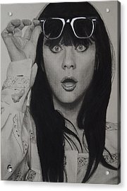 Zooey Deschanel Acrylic Print by Chrissy Eckman
