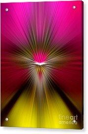 Zoom Acrylic Print by Trena Mara