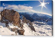 Zugspitze Summit Acrylic Print
