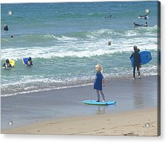 Acrylic Print featuring the photograph Zuma - Surf Camp 2  by Nora Boghossian