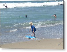 Acrylic Print featuring the photograph Zuma - Surf Camp 3 by Nora Boghossian