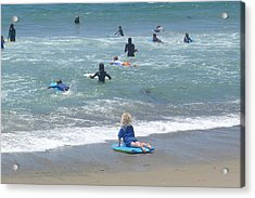Acrylic Print featuring the photograph Zuma - Surf Camp 4 by Nora Boghossian