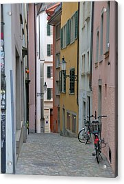 Zurich Old Town Street Acrylic Print