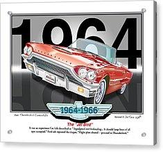 1964 Thunderbird Acrylic Print
