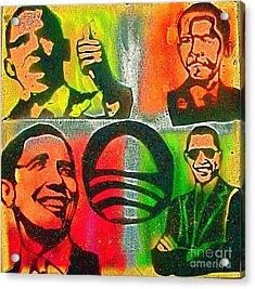 4 Barack  Acrylic Print by Tony B Conscious