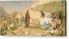 A Frank Encampment In The Desert Of Mount Sinai Acrylic Print by John Frederick Lewis
