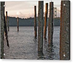Acrylic Print featuring the photograph  A Titlow Sunset by Chris Anderson
