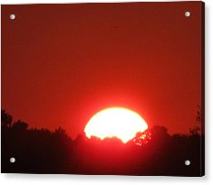 Acrylic Print featuring the photograph  A Very Red Summer Sunset by Tina M Wenger