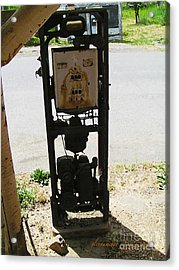 An American Vintage Gas Pump Series Two                    Acrylic Print by Glenna McRae