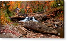 Autumn Leaves At The Mill Acrylic Print by Randall Branham