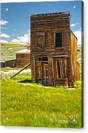 Bodie Ghost Town - Bent House 02 Acrylic Print by Gregory Dyer