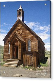 Bodie Ghost Town - Church 01 Acrylic Print by Gregory Dyer