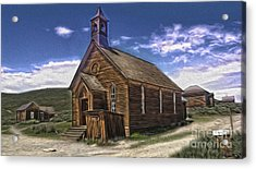 Bodie Ghost Town - Church 02 Acrylic Print by Gregory Dyer