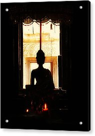 Acrylic Print featuring the photograph  Buddha by Lynn Hughes