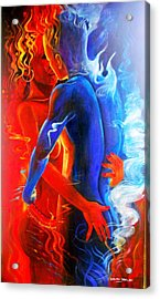Cosmic Harmonium Acrylic Print by Leon Salako