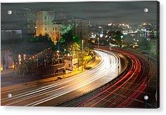 Curve Light Acrylic Print by Okan YILMAZ