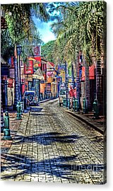 Entering Front Street Acrylic Print by Arnie Goldstein