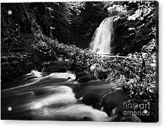 Gleno Or Glenoe Waterfall Beauty Spot County Antrim Northern Ireland Acrylic Print by Joe Fox