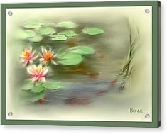 Acrylic Print featuring the painting  Gold Fish Pond by Bonnie Willis