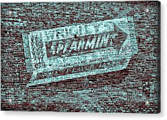 Gum On Brick Blue Acrylic Print by Tony Grider