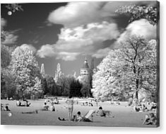 Acrylic Print featuring the photograph  In Park by Odon Czintos