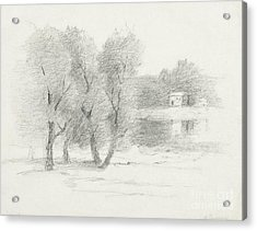 Landscape - Late 19th-early 20th Century Acrylic Print by John Henry Twachtman