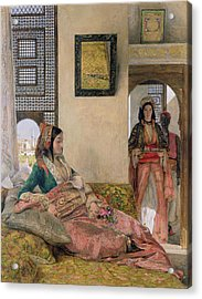 Life In The Harem - Cairo Acrylic Print by John Frederick Lewis