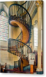 Acrylic Print featuring the photograph  Loretto Chapel Staircase by Anna Rumiantseva